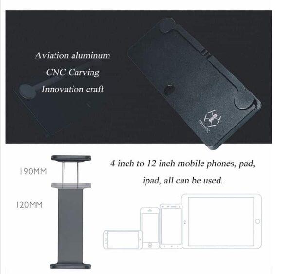 Приставка за дистанционно на дрон на която може да се монтира таблет и телефон