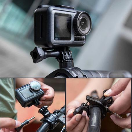 Монтиране на екшън камера към велосипед