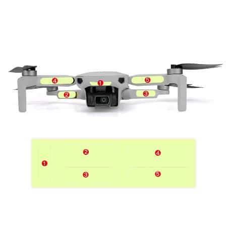 5 Броя светещи стикери за дрон